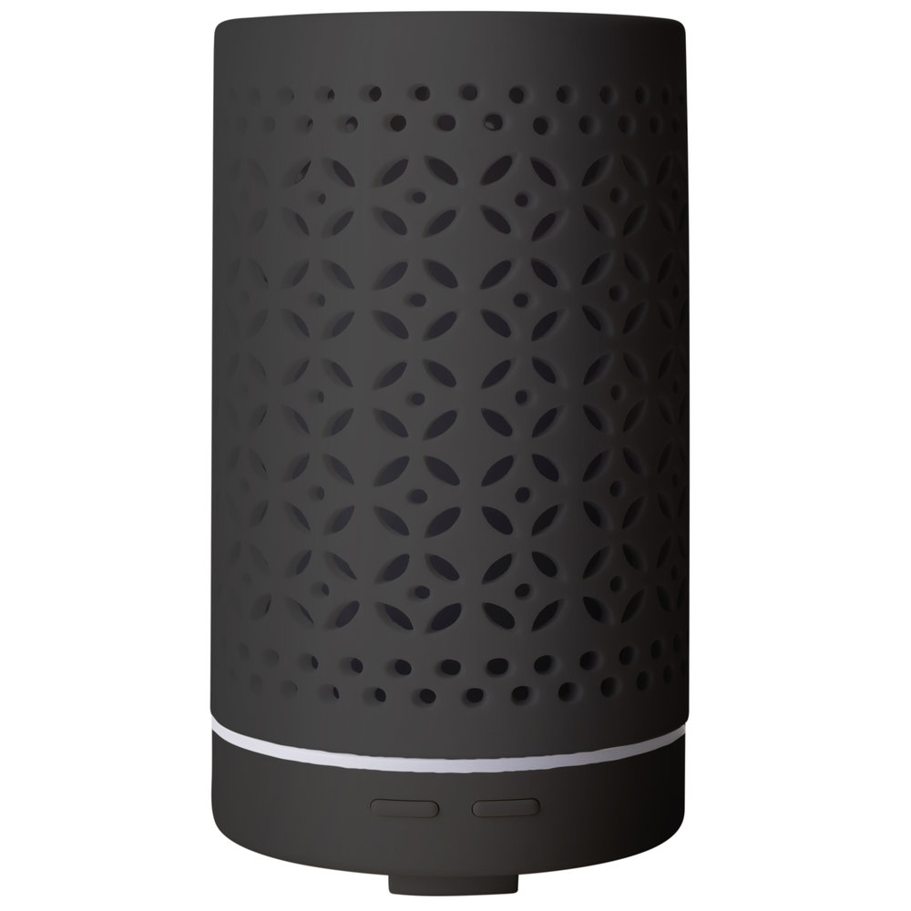 Black Gobhan Diffuser - $90 - No Postal Delivery - Enjoy the beauty and simplicty of this gorgeously designed ceramic aromatherapy diffuser. Bring aromatherapy into your everyday and create a calming environment in your home or workplace by diffusing pure essential oils in our new Gohan Diffuser.DetailsAll of our diffusers are ultrasonic. An ultrasonic diffuser negates the positive ions which can be detrimental to our health. These positive ions are present because of electronics, plastic and other polluting chemicals in our environment.No heating element used; gently diffuses essential oils without heat.Ceramic cover in black and white. Continuous or intermittent settings. Operates for several hours and automatically turns off when water level is low. For use at home or office. BPA free