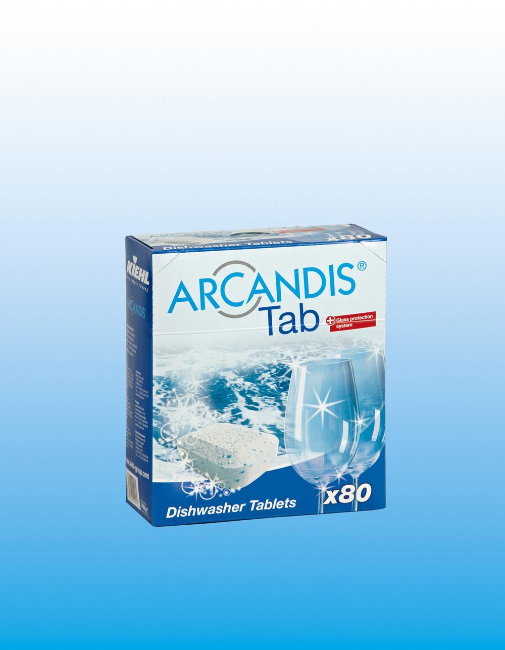 Arcandis Eco Tab - Maskinoppvask, tabletter, uten fosfaterOppvasktabletter for alle husholdnings oppvask-maskiner. Produktet løser effektivt opp albumen og stivelse samt fett og fjerner vanskelige kaffe og te flekker. Selv ved lav temperatur på vaskesykluser, oppnår produktet optimal rengjøring.
