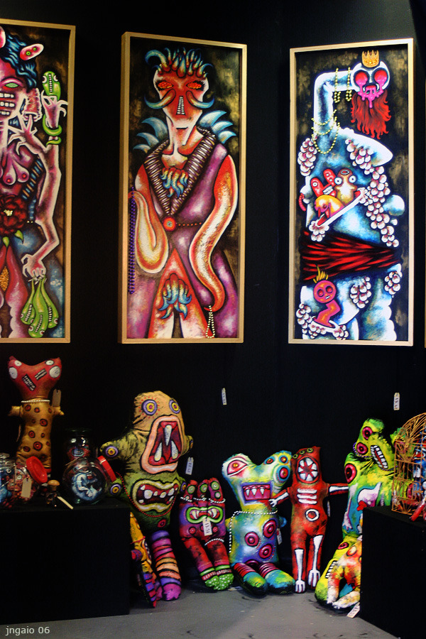 Here Are Our Monsters - 2006  Waiariki Institute of Technology graduate exhibition. Rotorua, New Zealand.