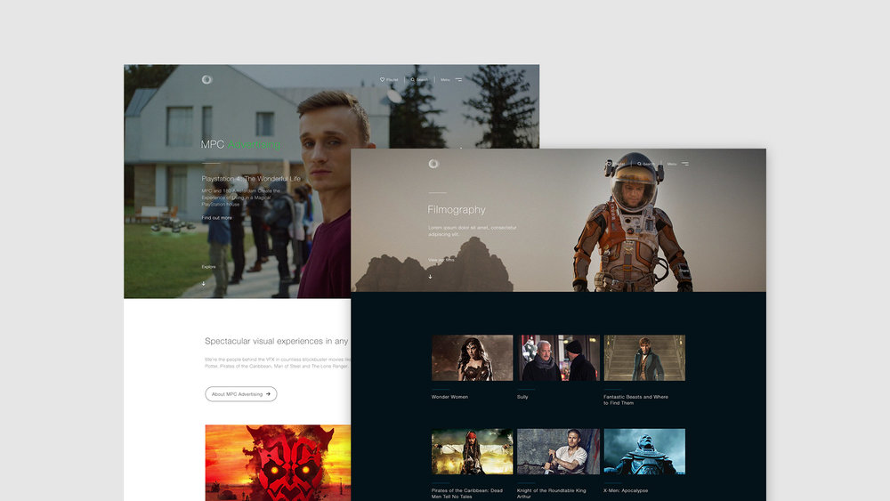Dare West MPC Umbraco advertising and filmography pages