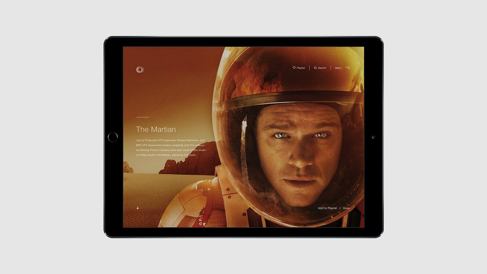 Dare West MPC Umbraco film page - the martian