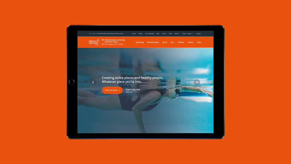 Dare West Good Energy Umbraco responsive tablet layout