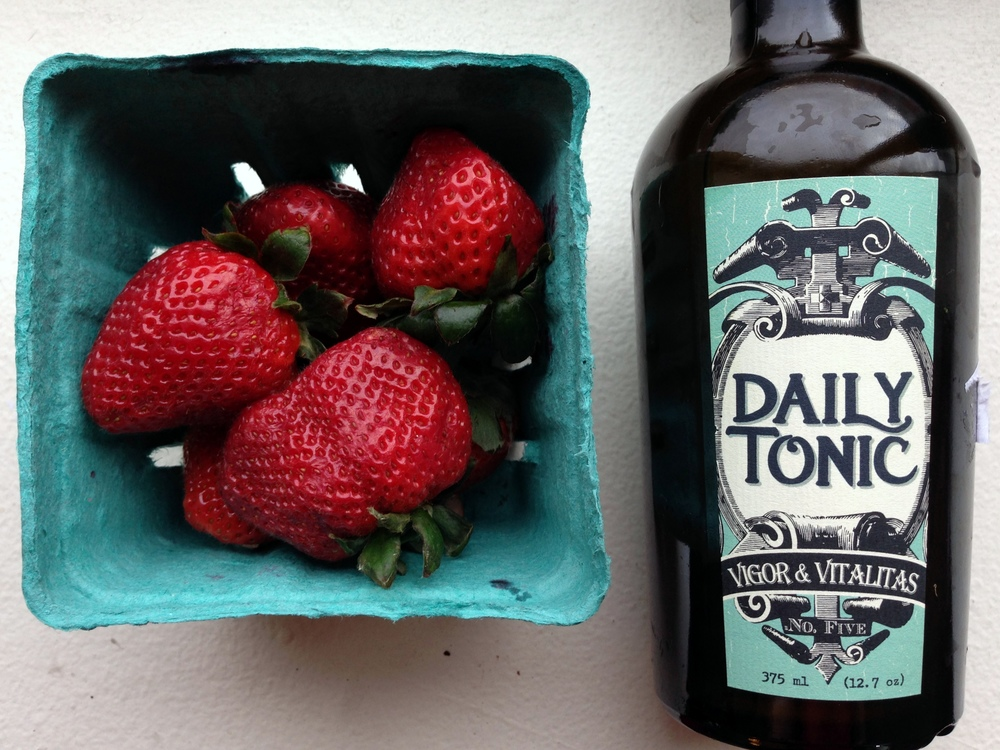 daily tonic vermont pepper works + strawberries