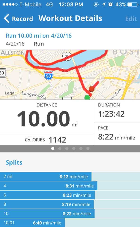 mapmyrun 10 mile run