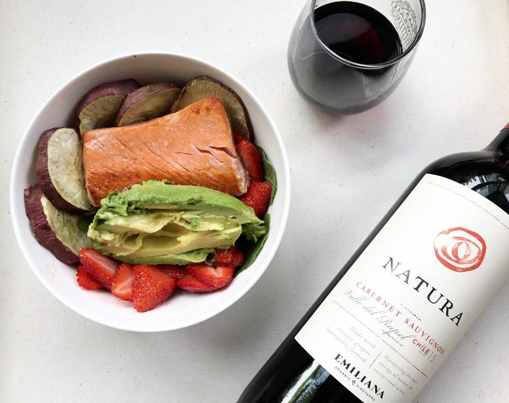 salmon spring salad