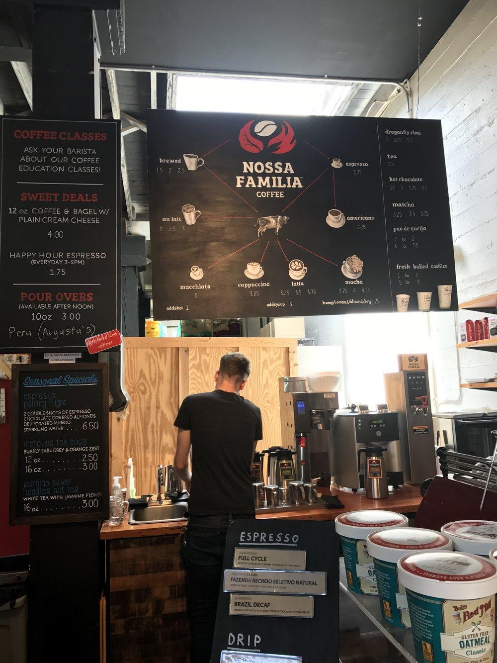 nossa espresso bar