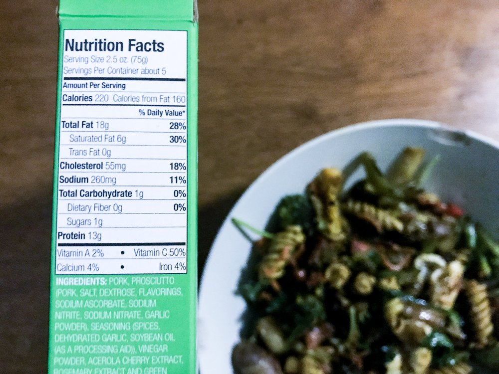 man cave eats nutrition facts