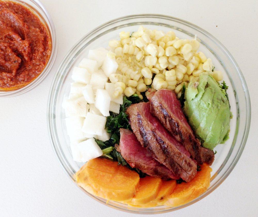 southwestern inspired steak salad 1