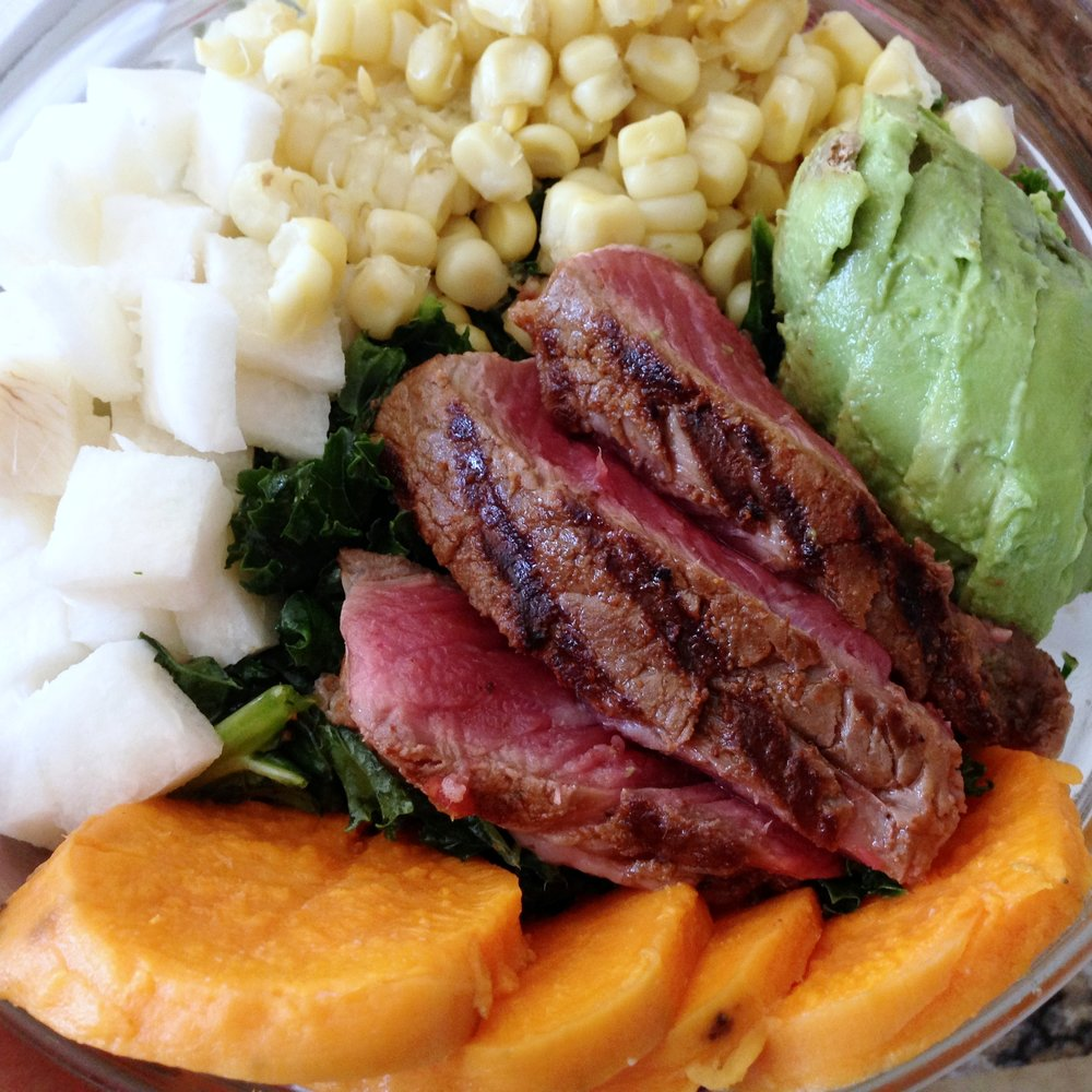 Southwestern-Inspired Steak Salad Close Up