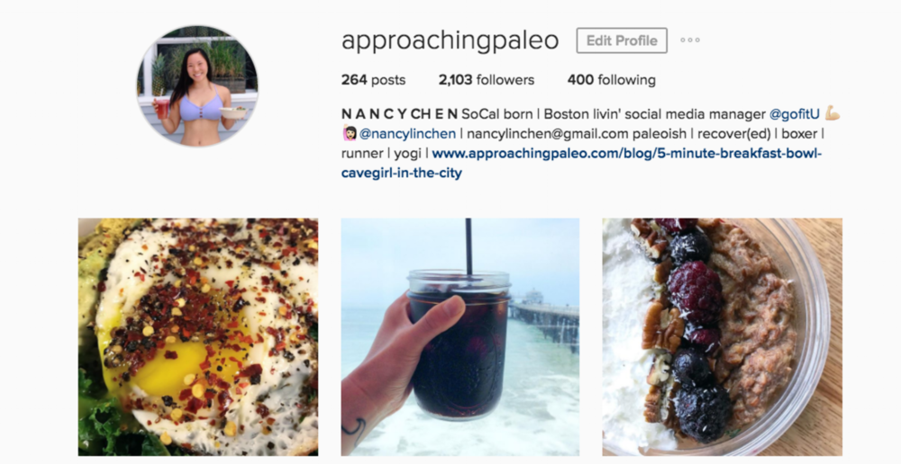 approaching paleo instagram