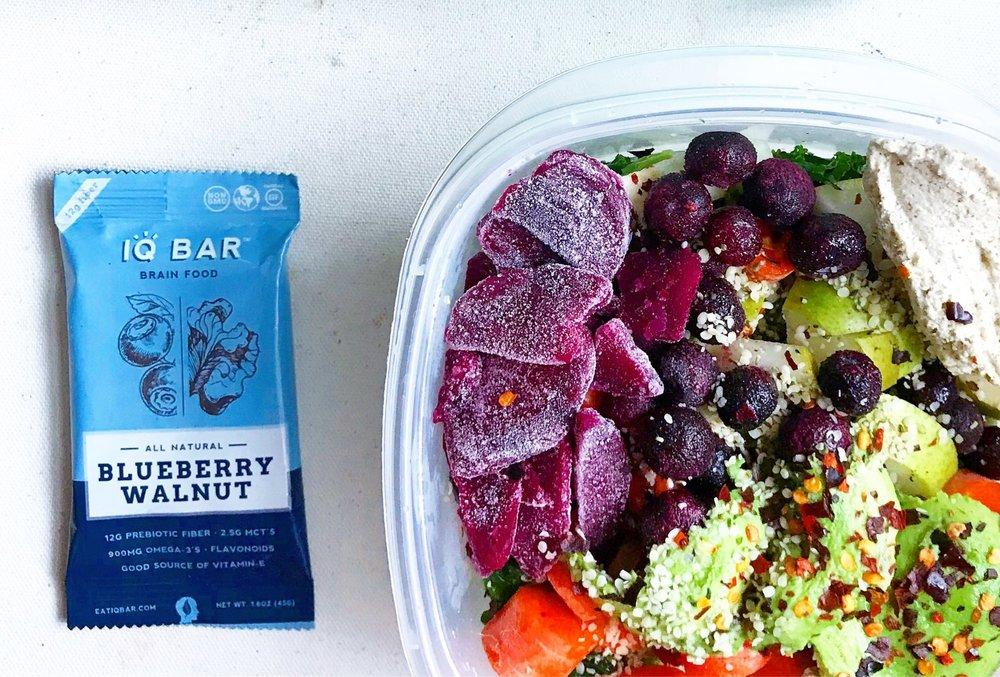 IQ Bar with Salad