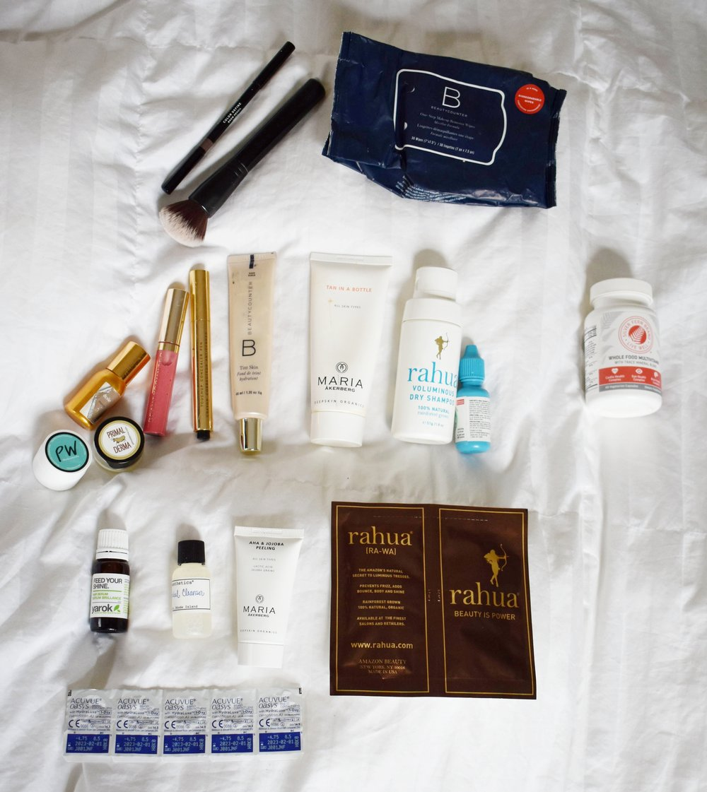 Beauty Packing List