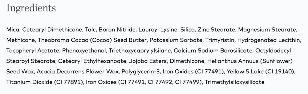 Beautycounter Eyeshadow Ingredient List