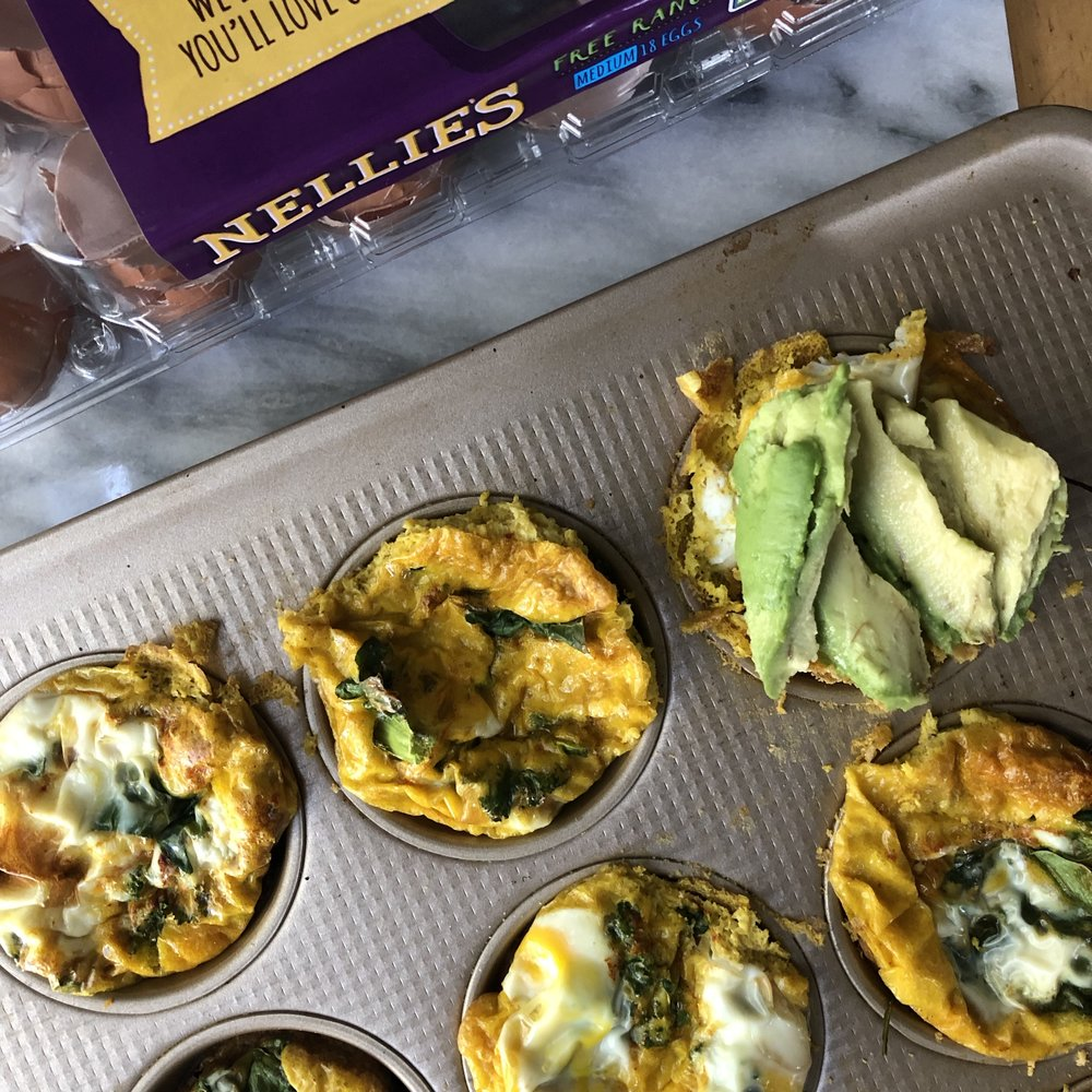 15 Minute Turmeric Pesto-Filled Egg Muffins