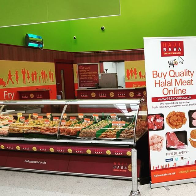 Our Wembley counter looking fantastic today- well done guys #halal#meat#shop#online#instore