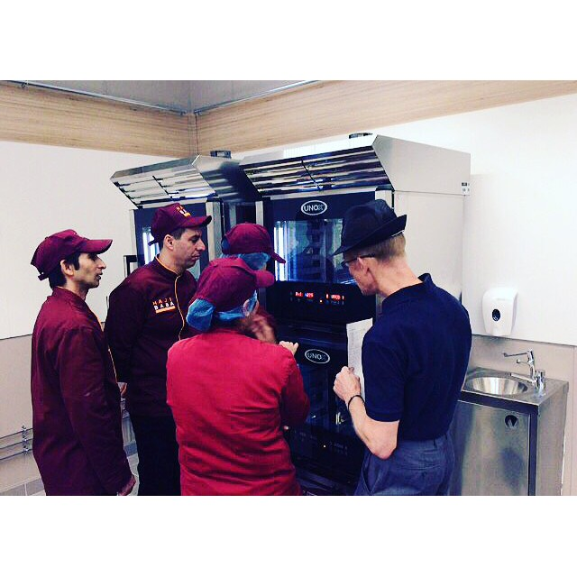 Haji Baba colleagues receiving Rotisserie training at ASDA Barking opening 3rd Sep @asda #ready#to#eat#cooked#halal#meat 🍴