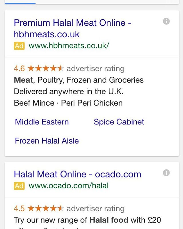 Ranking higher than Ocado 💪🏼 #halal#meat#online