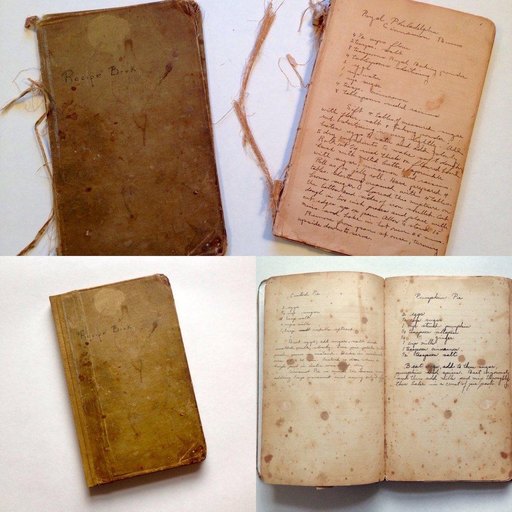 Restoration of a recipe book