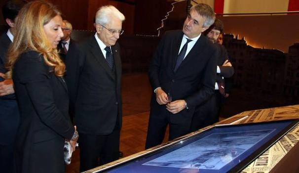 Federica Rotondo e il  Presidente della Repubblica Italiana Sergio Mattarella