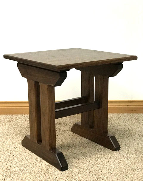 """THE GLENN"" End Table in Walnut"