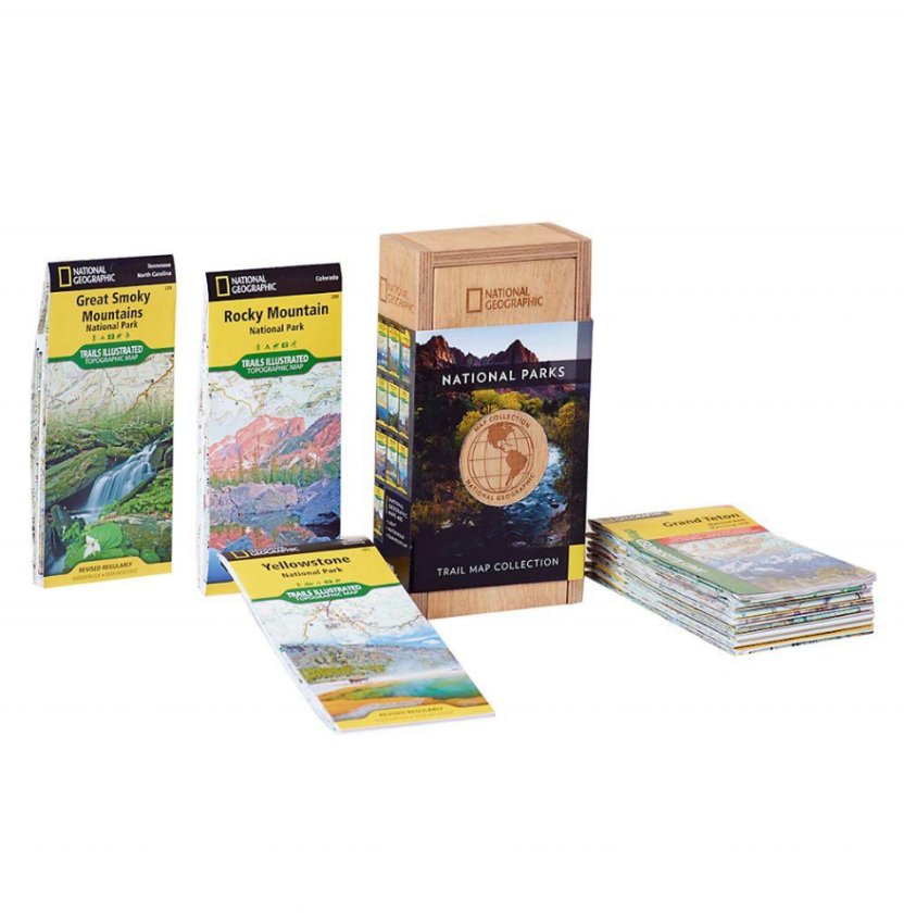 National Geographic National Parks Trail Map Collection - Assembled, packed and shipped from the WorkShop, these collector sets make a great gift.