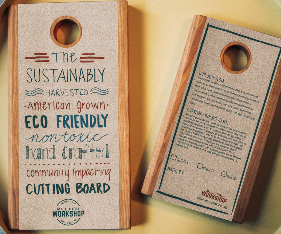 WorkShop Impact Cutting Boards - Hand made at the WorkShop! Be one of the first to get (or give) our latest design.
