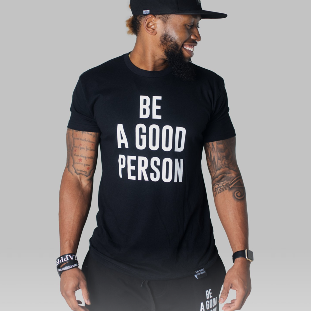 Be A Good Person Clothing - The WorkShop customizes many Be A Good Person products by sewing patches and tags on their products. They're a great partner and we love their message!
