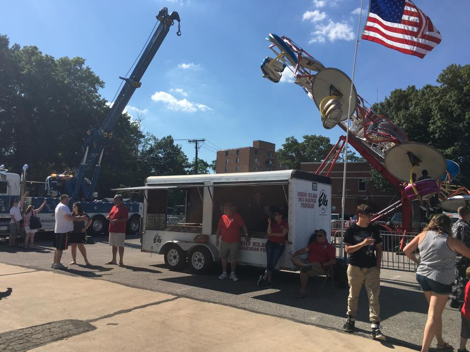 Berea Elks members staffed the Elks Drug Awareness trailer at Berea's Annual Grindstone Festival