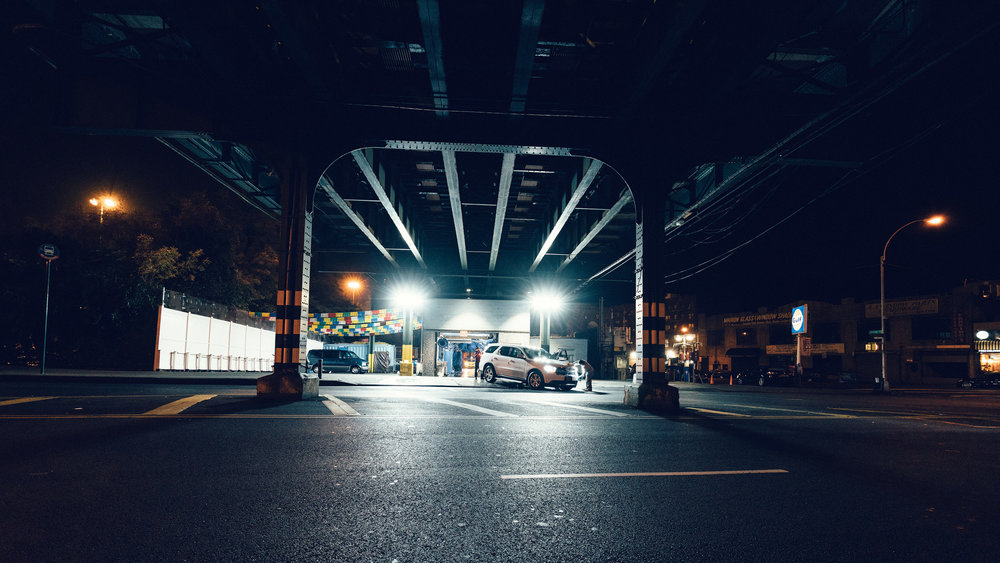 Sony A7Rii + Voigtlander SUPER WIDE-HELIAR 15mm F4.5 III - ISO 3200 1/50 - I have been wanting to take a shot of this 24 hour car wash in the Bronx for a while.