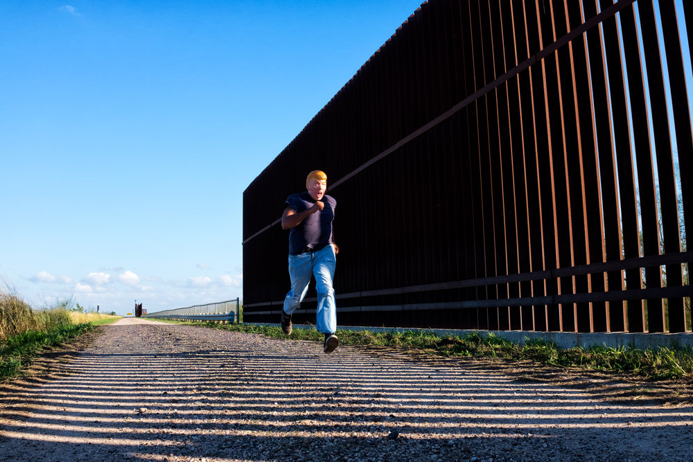 A trump crossing the South Texas border