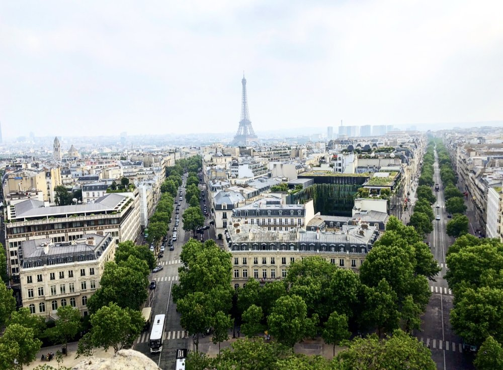 The view from the top of Arc De Triomphe! So breathtaking!