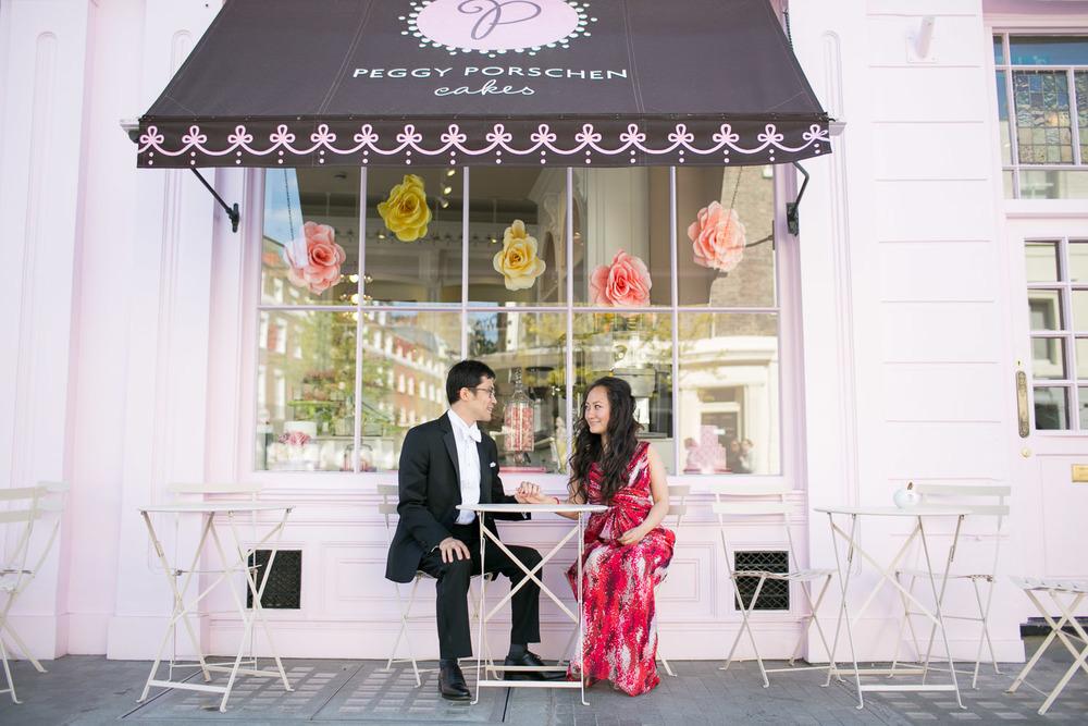 Pre wedding London at Peggy Porschen