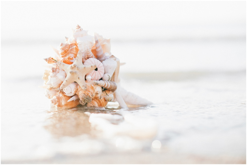 Bouquet made out of sea shells