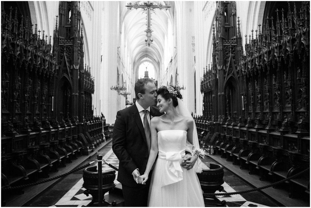 Huwelijksreportage Kathedraal Antwerpen