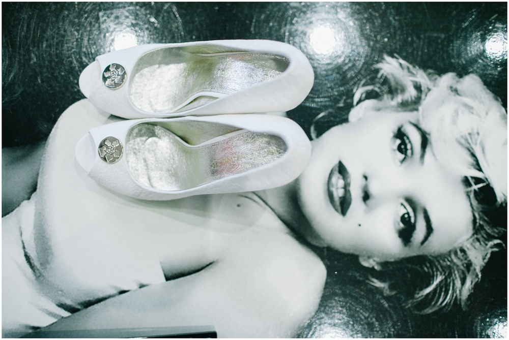 wedding shoes and Marilyn Monroe