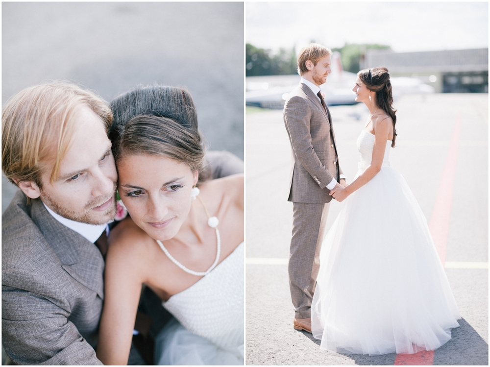 Huwelijksreportage luchthaven Deurne