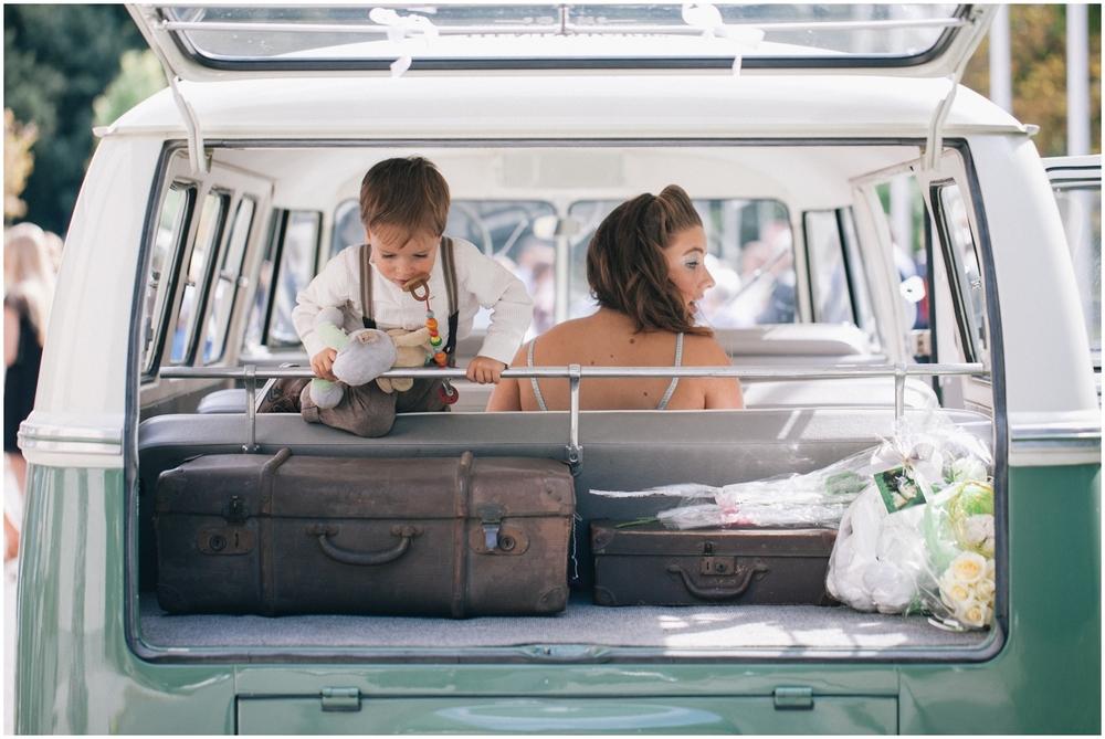 VW busje op huwelijk