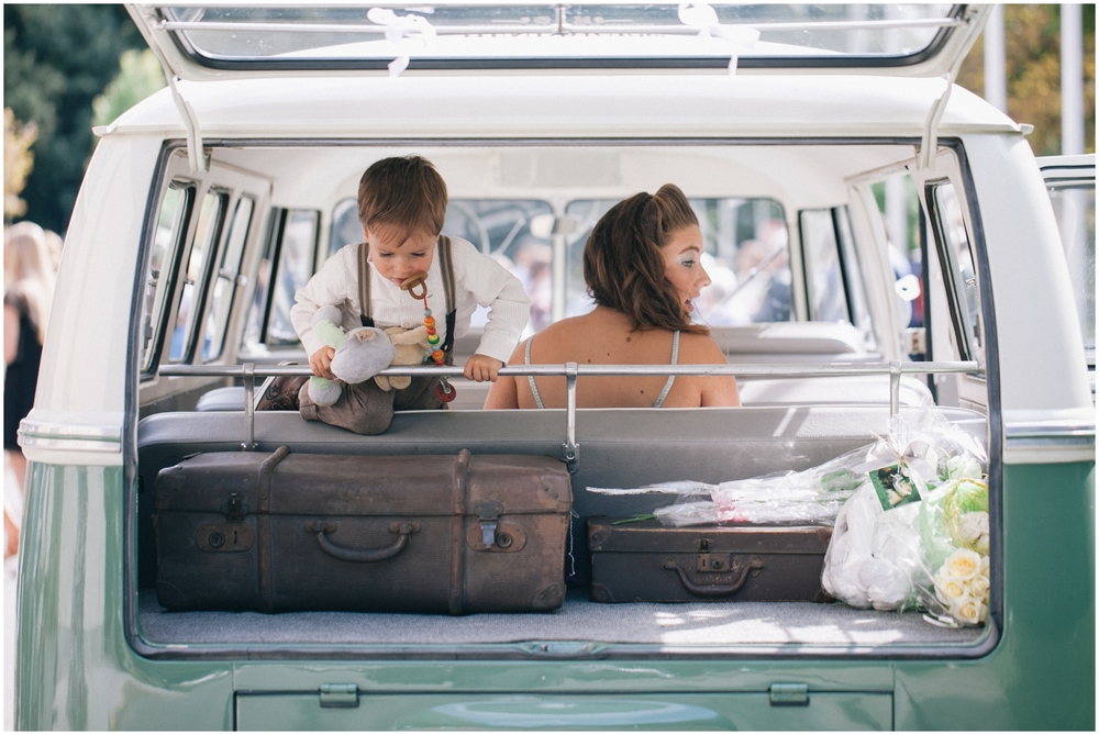 Wedding in VW van