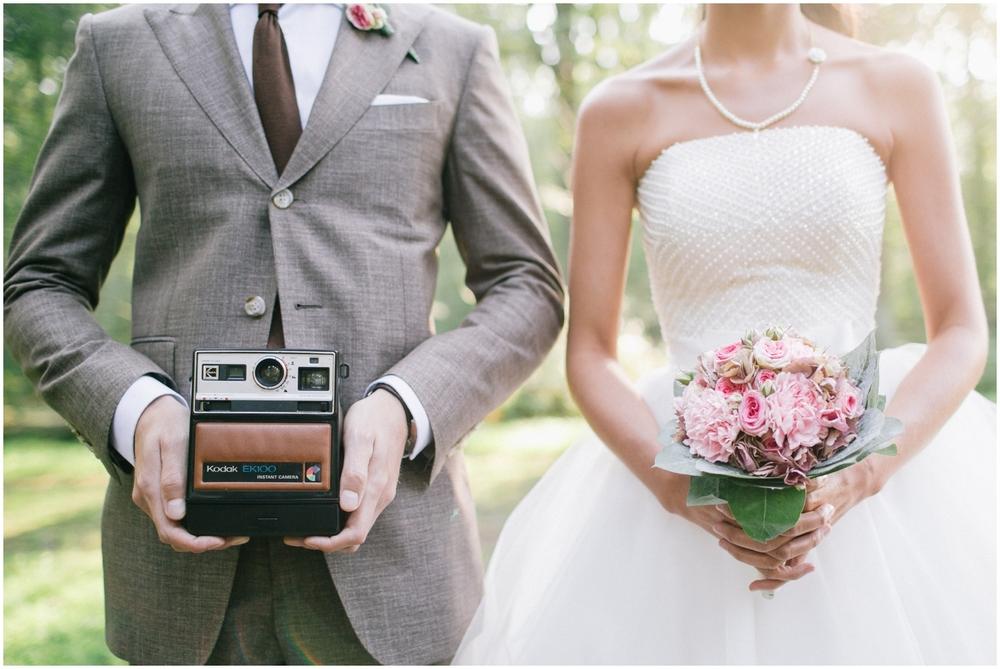 Huwelijksreportage met oude camera