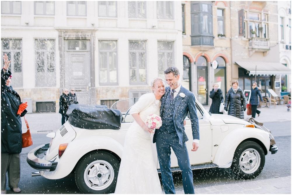 Huwelijk met VW Kever in Gent