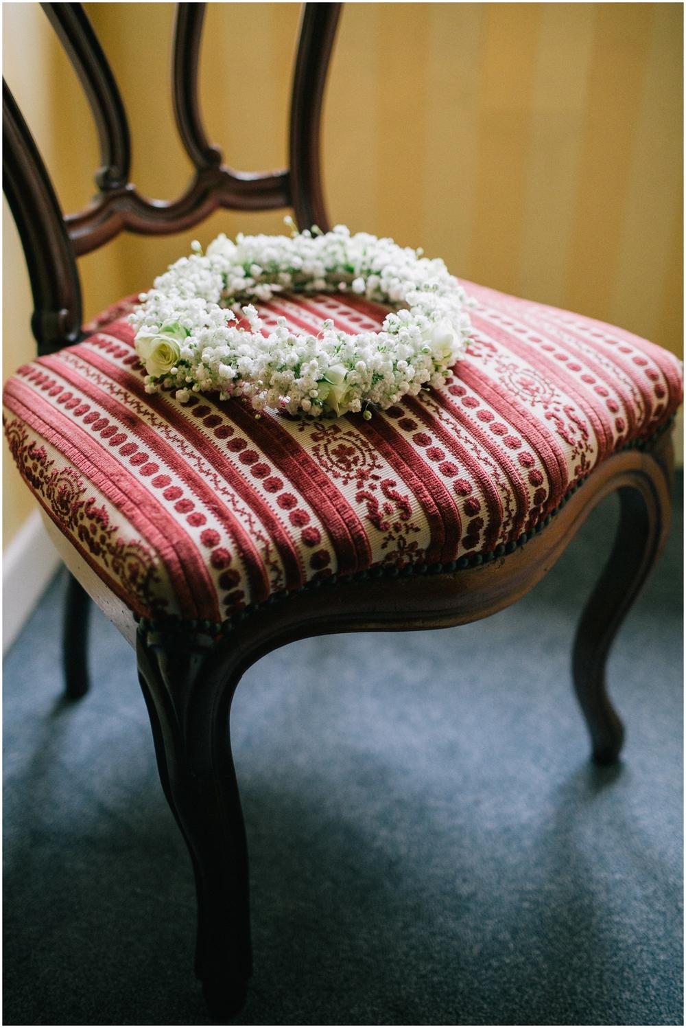 Bohemian bloemenkroon huwelijk