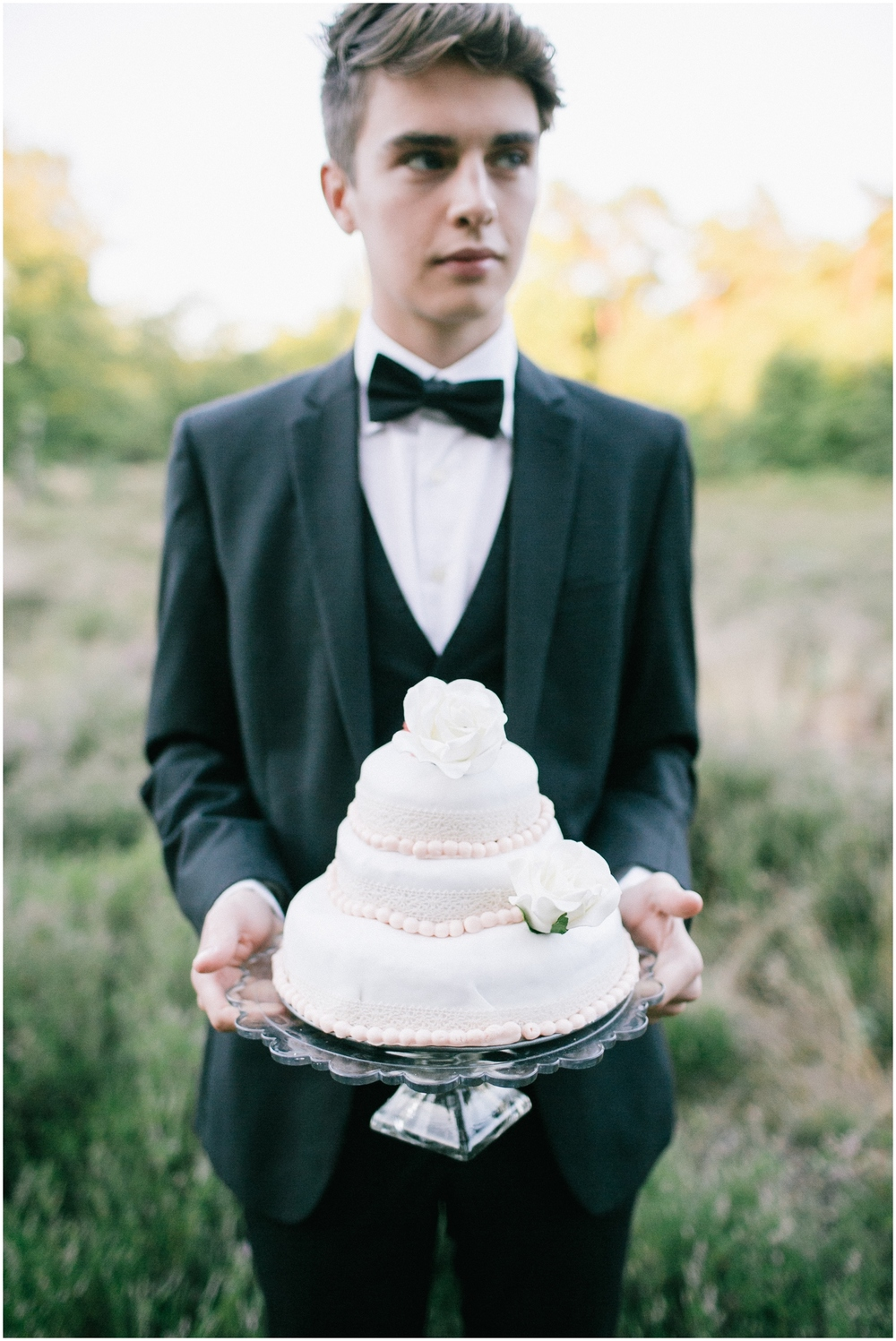 Groom with cake