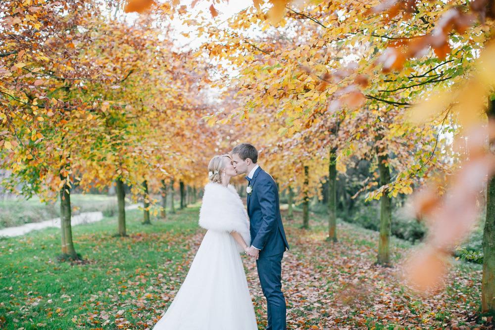 Huwelijk met herfstkleuren
