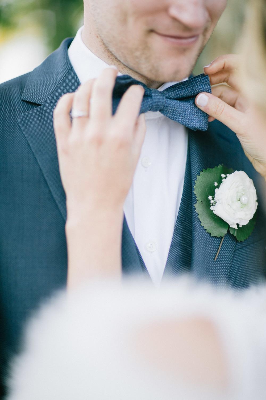 Strikje van de bruidegom