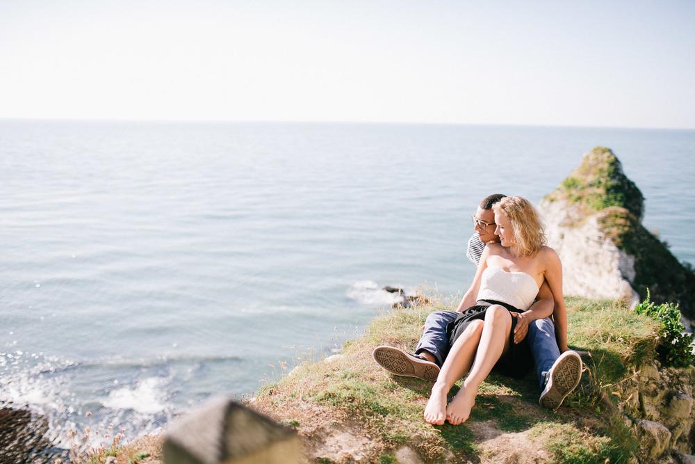 Verlovingsreportage aan zee