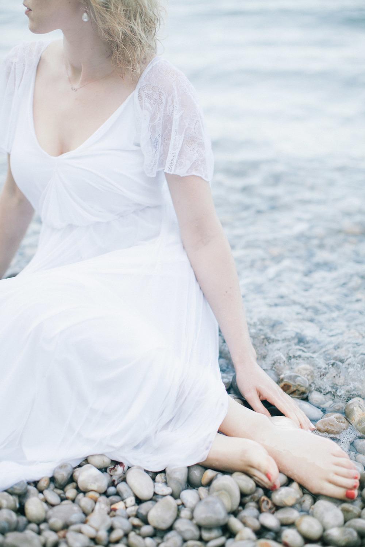 Bruid in het water