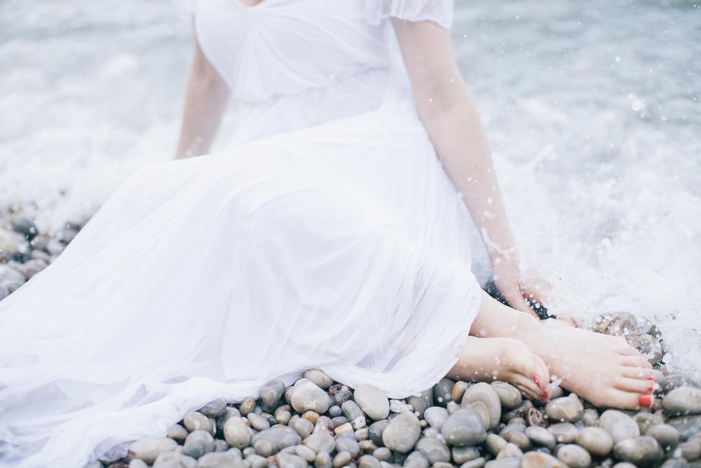 Bruid in de zee