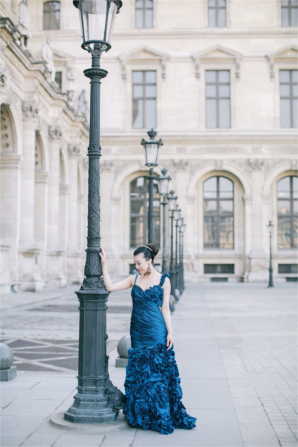Engagement session Asian couple Paris