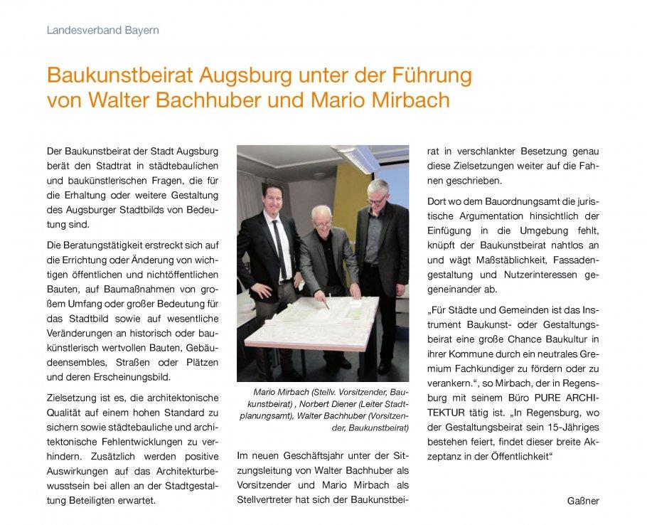 Mario Mirbach als Stellvertretender Vorsitzender in die neue Amtszeit gewählt.