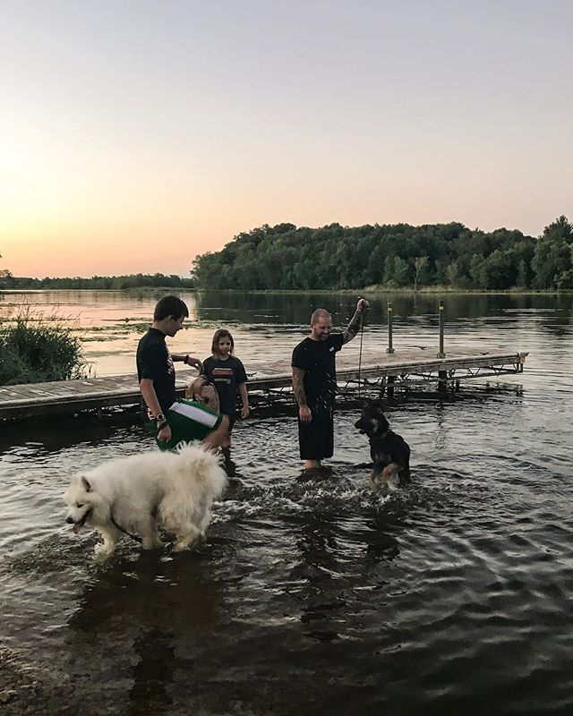 I wish I could bottle up all these gorgeous summer evenings for when we need a break from our long winters. But I can't, so enjoying every one of them as long as we can is our mission!  Our doggies thoroughly enjoyed the evening fun tonight!💦🌿